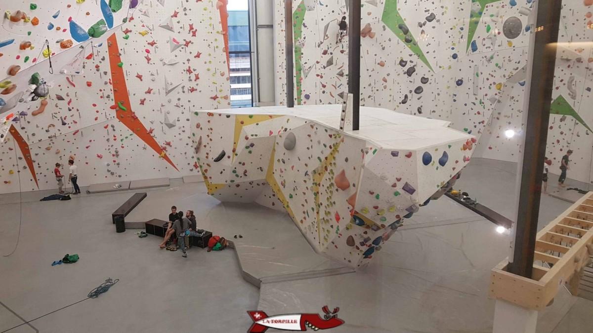 Bloc central à Rocspot - Salles de grimpe et accrobranches de Suisse Romande