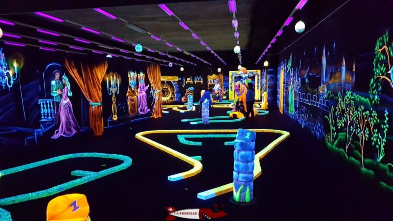 Minigolf du fun planet bulle