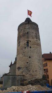le donjon du château d'Orbe