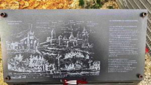 Un dessin montrant le château d'orbe lorsqu'il était complet.