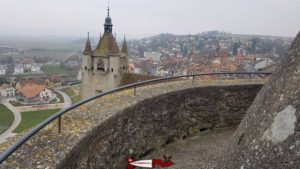 le sommet du donjon du château d'orbe