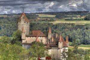 Le château de Lucens. Source: Wikimedi Commons Mbarbey49