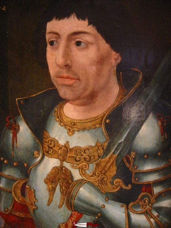 A painting of the Duke of Burgundy known as Charles the Bold at the Museum of the Palace of the Dukes of Burgundy in Dijon.