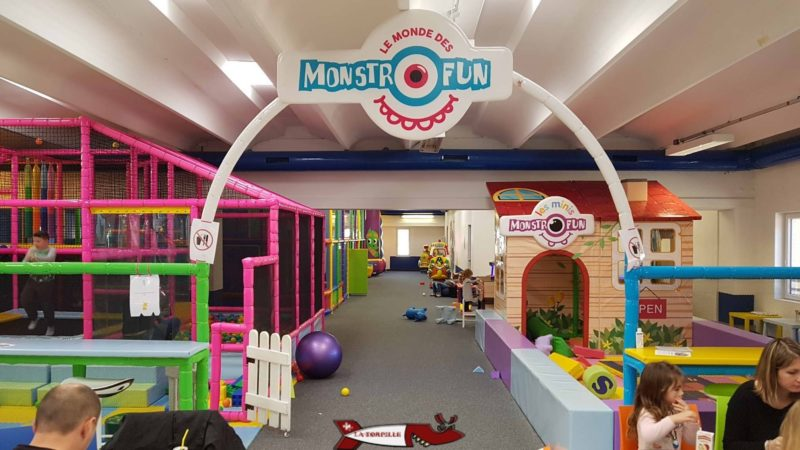 The Monstrofun playroom with a space for the little ones in the foreground.