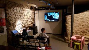 La salle de projection au sous-sol au musée romain d'avenches
