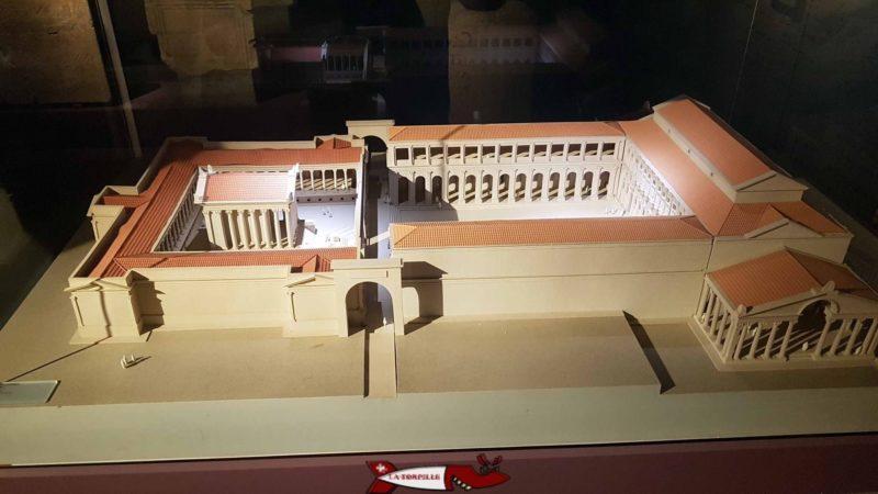 Une maquette du forum romain de Nyon.