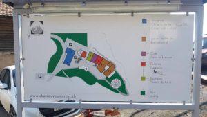 plan des bâtiments du complexe du château de vaumarcus