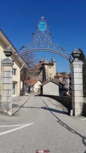 entrée du complexe du château de vaumarcus