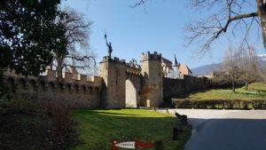 Une muraille de type renaissance au château de gorgier