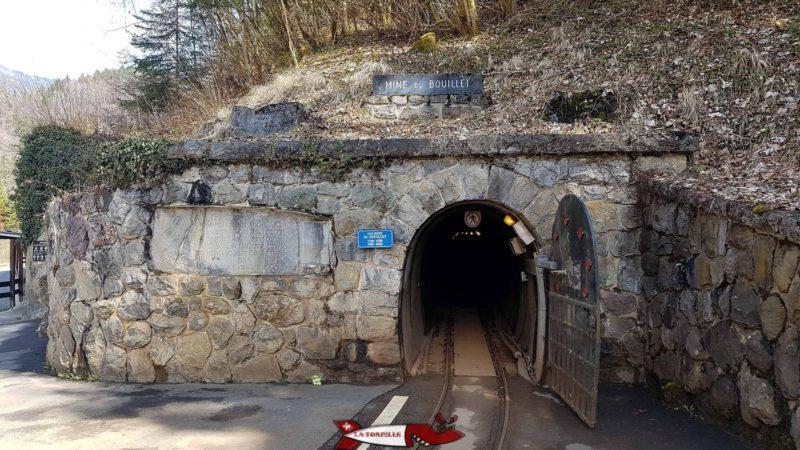 L'entrée de la mine de sel de Bévieux - mines de sel de bex