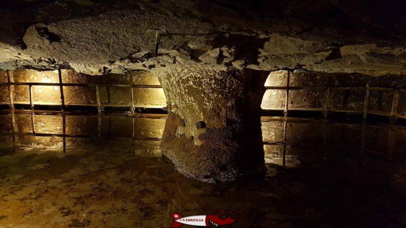 Réservoir Marie-Louise. - mines de sel de Bex