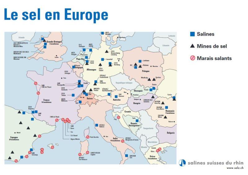Une intéressante carte indique les mines en activité en Europe.
