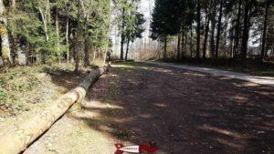 le parking d'accès au donjon du bois des brigands
