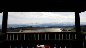 la table d'orientation du donjon du bois des brigands