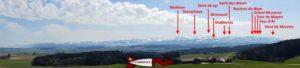 panorama sur le jura depuis le bois des brigands - donjon du bois des brigands