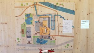 le plan de la maison de la rivière à tolochenaz