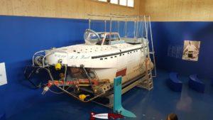 Le sous-marin FA Forel à la maison de la rivière