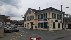 La gare CFF de Penthaz tout près du funiculaire de Cossonay.