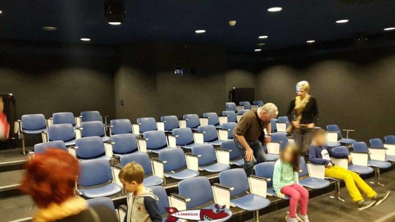 La présentation audio-visuelle du début de la visite d'electrobroc