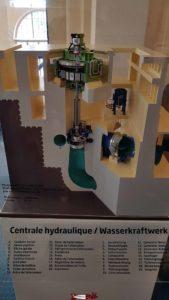 une maquette d'une turbine à electrobroc