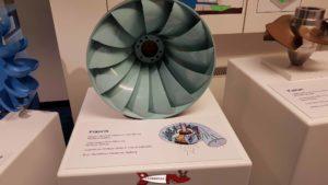 Une turbine Francis utilisée par le complexe hydroélectrique du barrage de Montsalvens en modèle réduit à Electrobroc