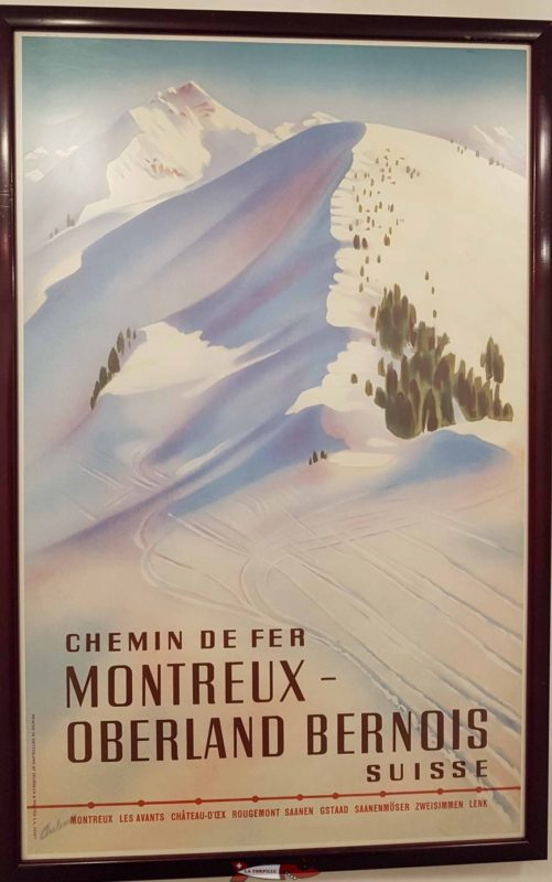 Affiche rétro sur le mob affichée au musée de Montreux.