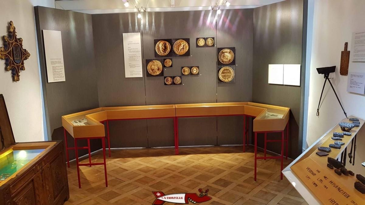 La partie du musée de montreux dédiée à l'époque romaine.