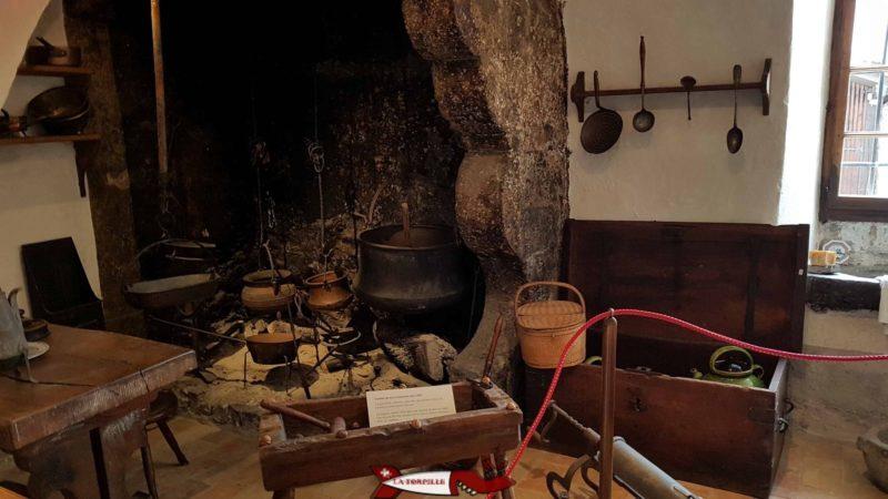 des ustensiles de cuisine au musée de montreux