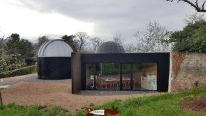 le bâtiment hébergeant le planétarium de l'observatoire de Vevey