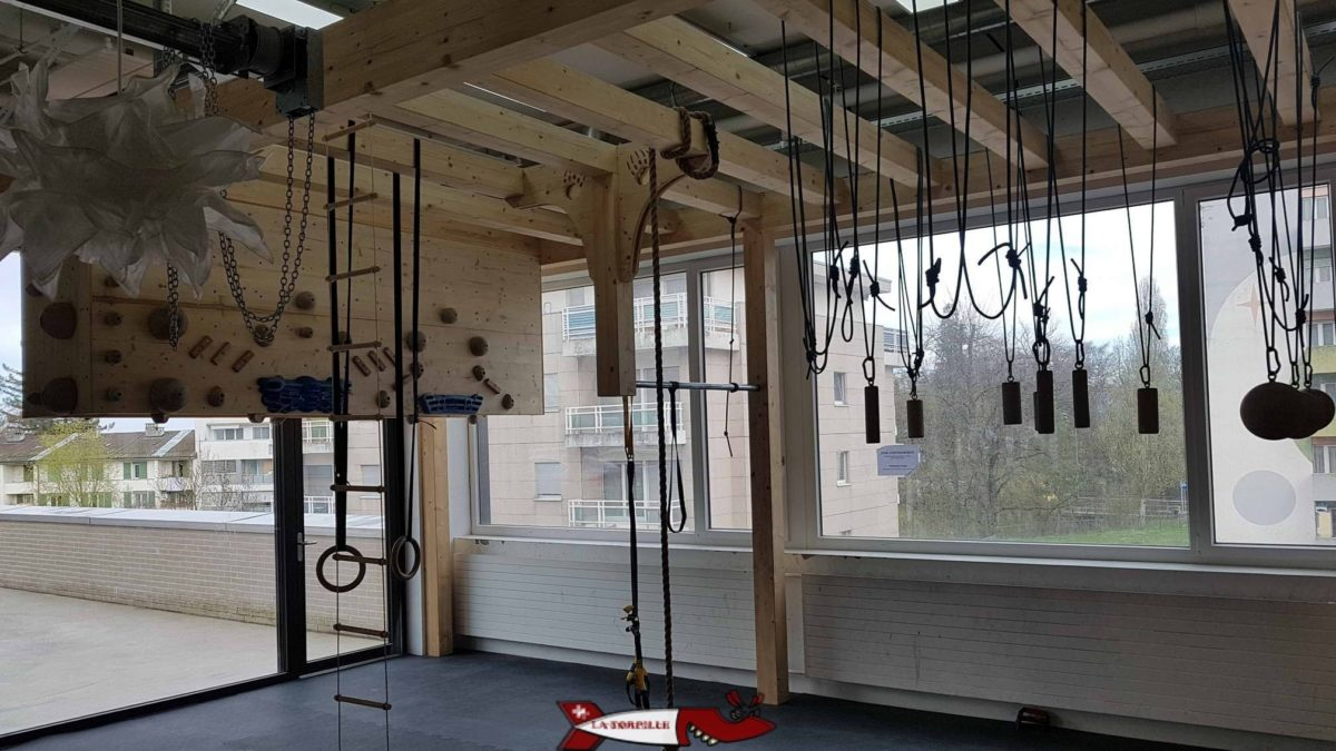 Le zone d'entraînement de la salle de Totem Gland - Salles de grimpe et accrobranches de Suisse Romande
