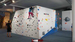 A climbing wall at totem climbing Versoix