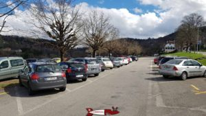 The access parking - doubs fall