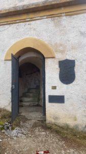 The entrance door of the Jurgensen tower