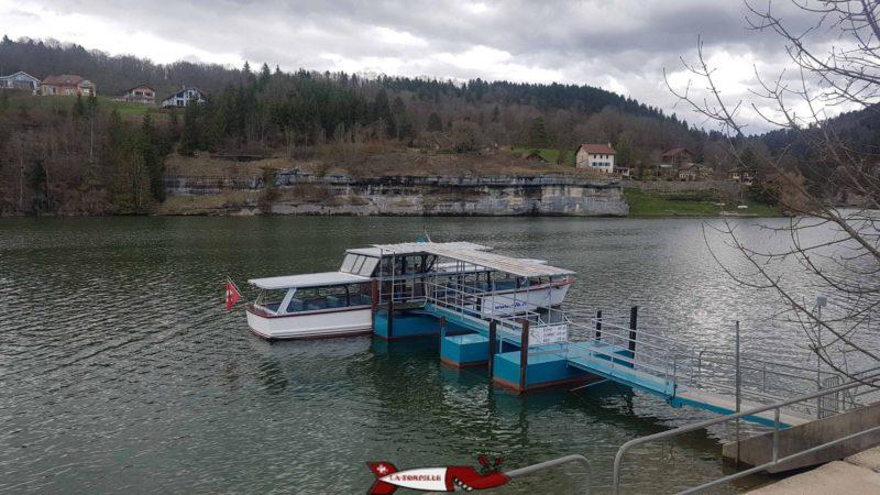 Le port pour aller visiter le saut du Doubs
