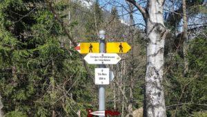 Le départ à Tête-Noire du sentier menant aux gorges mystérieuses