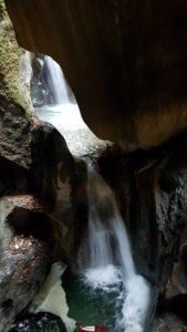 Le Temple des Nymphes sur le parcours des Gorges Mystérieuses