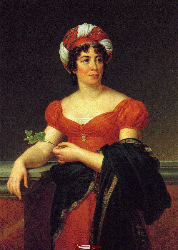 Madame de Staël who lived in the castle of Coppet in which the museum of the castle of Coppet is located