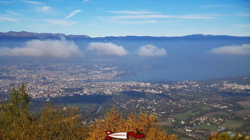 La ville de Genève depuis le Salève.