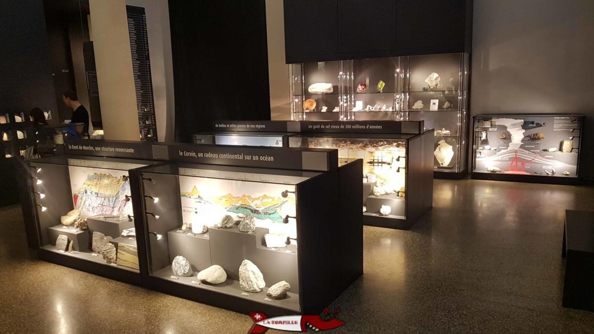 Le musée cantonal de géologie de Lausanne où lôn peut observer de nombreuses pierres et roches du monde entier.
