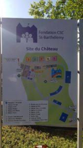 Un plan des bâtiments de la Fondation CSC au château de Saint-Barthélémy