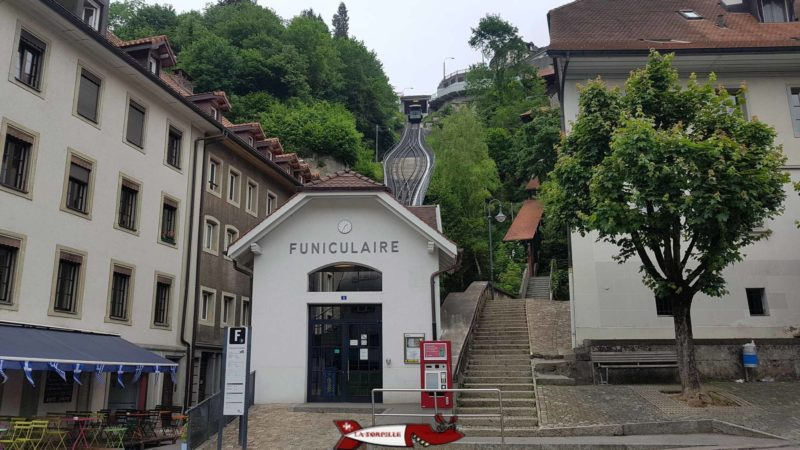 The Fribourg funicular is the shortest in French-speaking Switzerland.