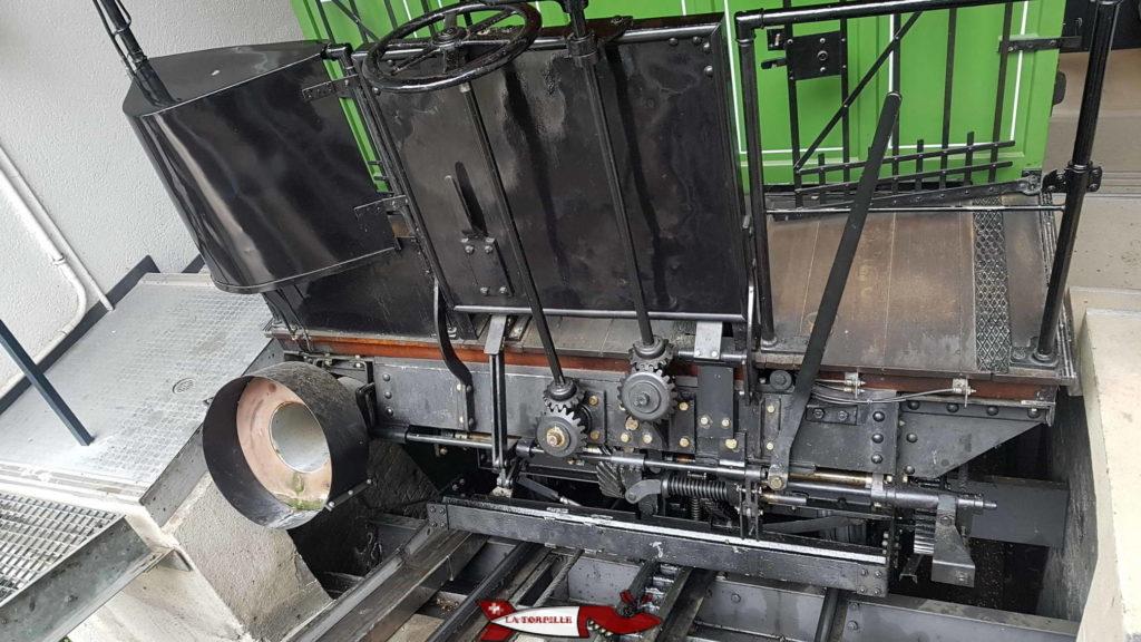 L'embout pour se connecter au réseau des eaux usées au funiculaire de Fribourg