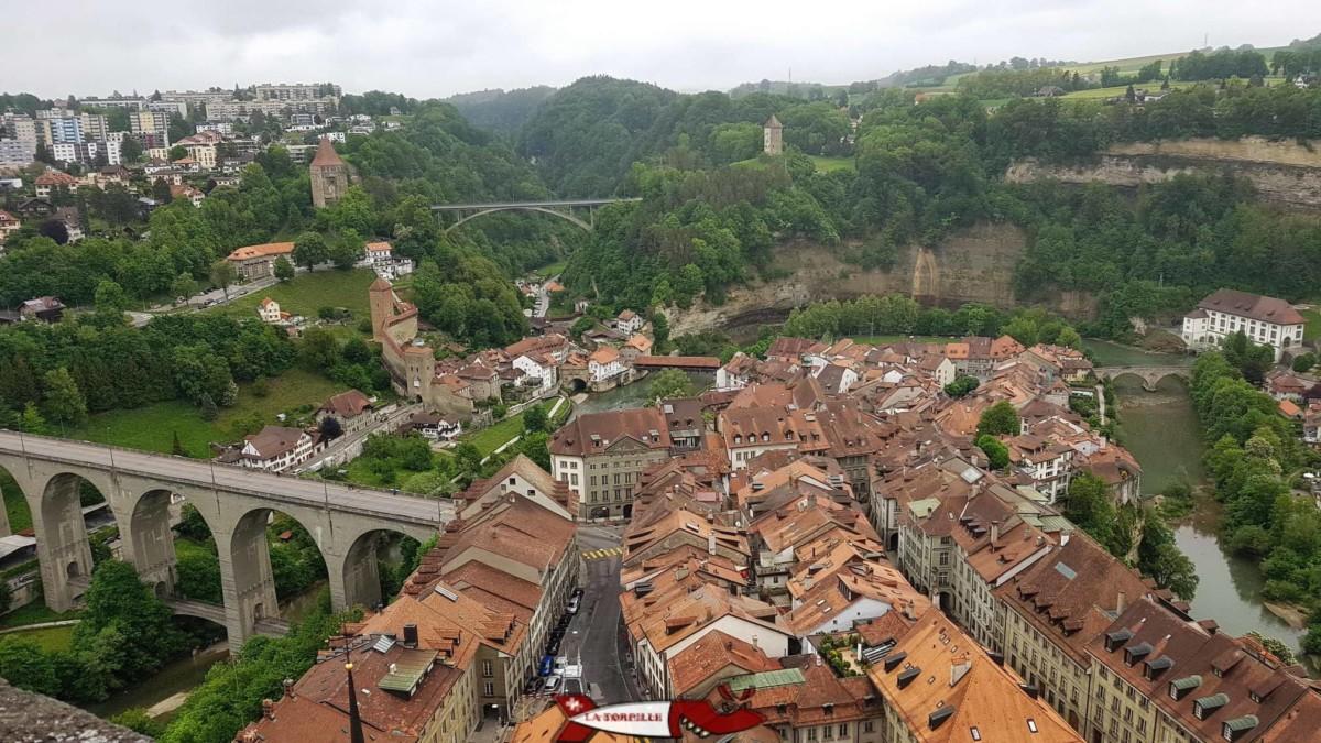 vue depuis la Cathédrale de Fribourg