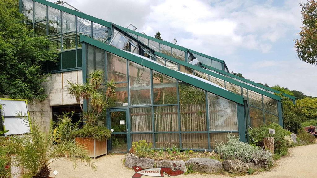 les serres du jardin botanique de Neuchâtel