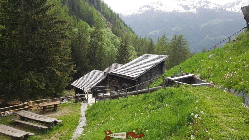 Le site des moulins de Saint-Luc.