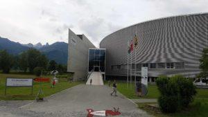 L'entrée du centre mondial du cyclisme.