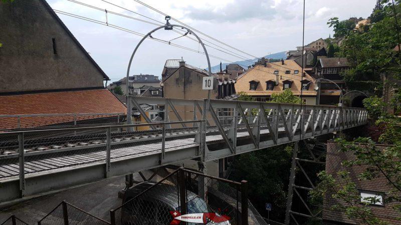 Le pont ferroviaire point de départ du parcours des gorges du chauderon