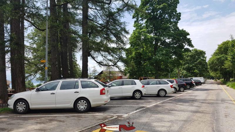 Le parking du Parc Aventure Chaumont