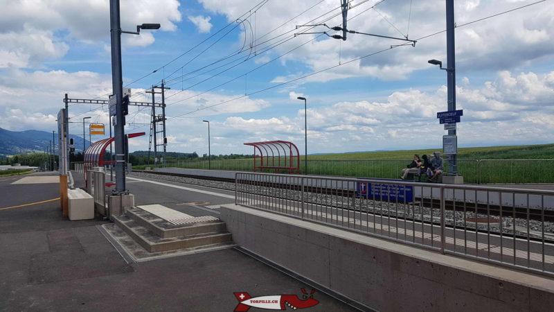 gare CFF de Vuiteboeuf pour aller aux gorges de Covatannaz