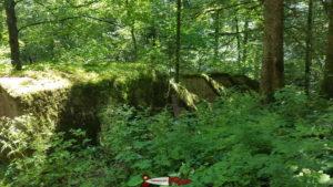 les toblersones en béton sur le parcours des gorges de la Poëta-Raisse